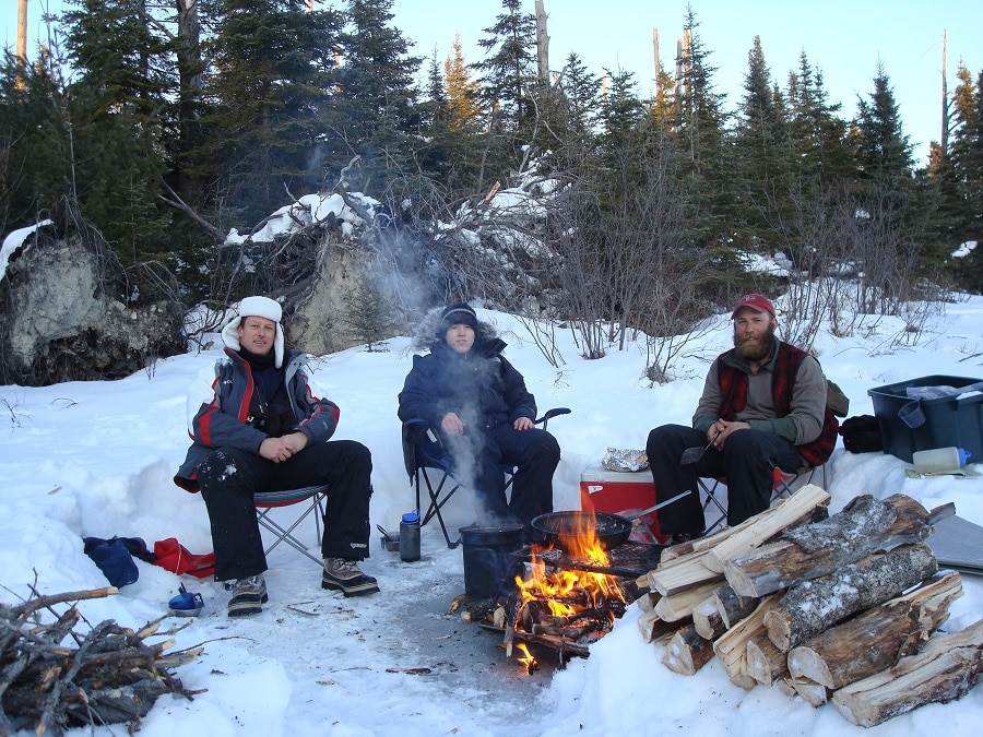 Camping warm clothes
