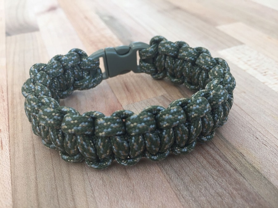 Homemade bracelet made from paracord
